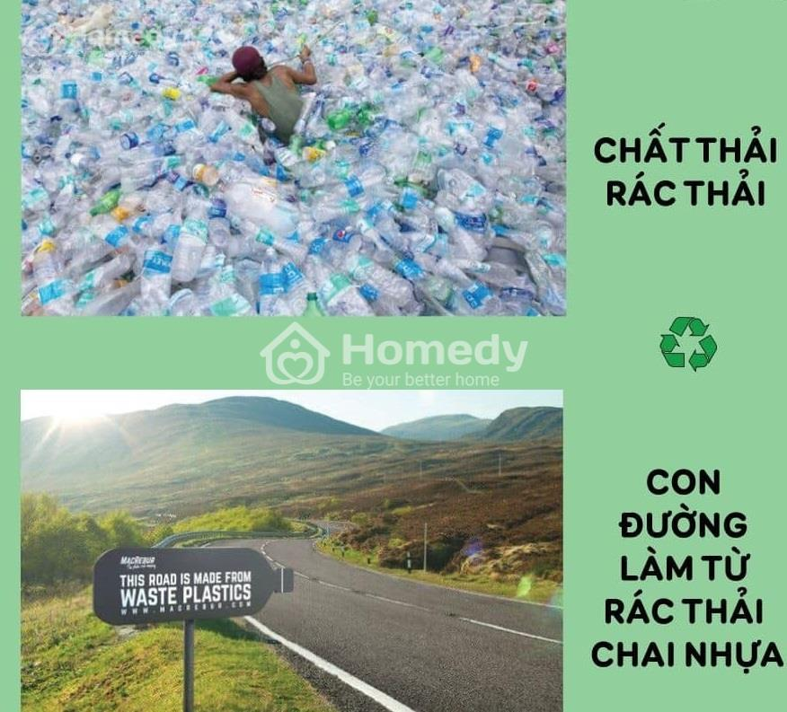 Xây đường từ rác thải nhựa đã qua sử dụng
