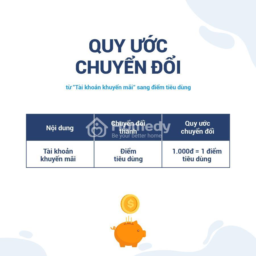 """Từ ngày 15/07/2019, Homedy sẽ chính thức ngừng hoạt động """"Tài khoản khuyến mãi"""" và thay thế bằng chương trình tích điểm Happy Homedy."""