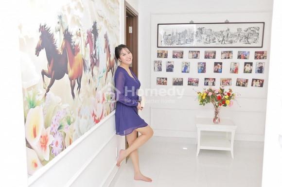 Không gian phòng khách bên trong Penhouse của Phi Thanh Vân.