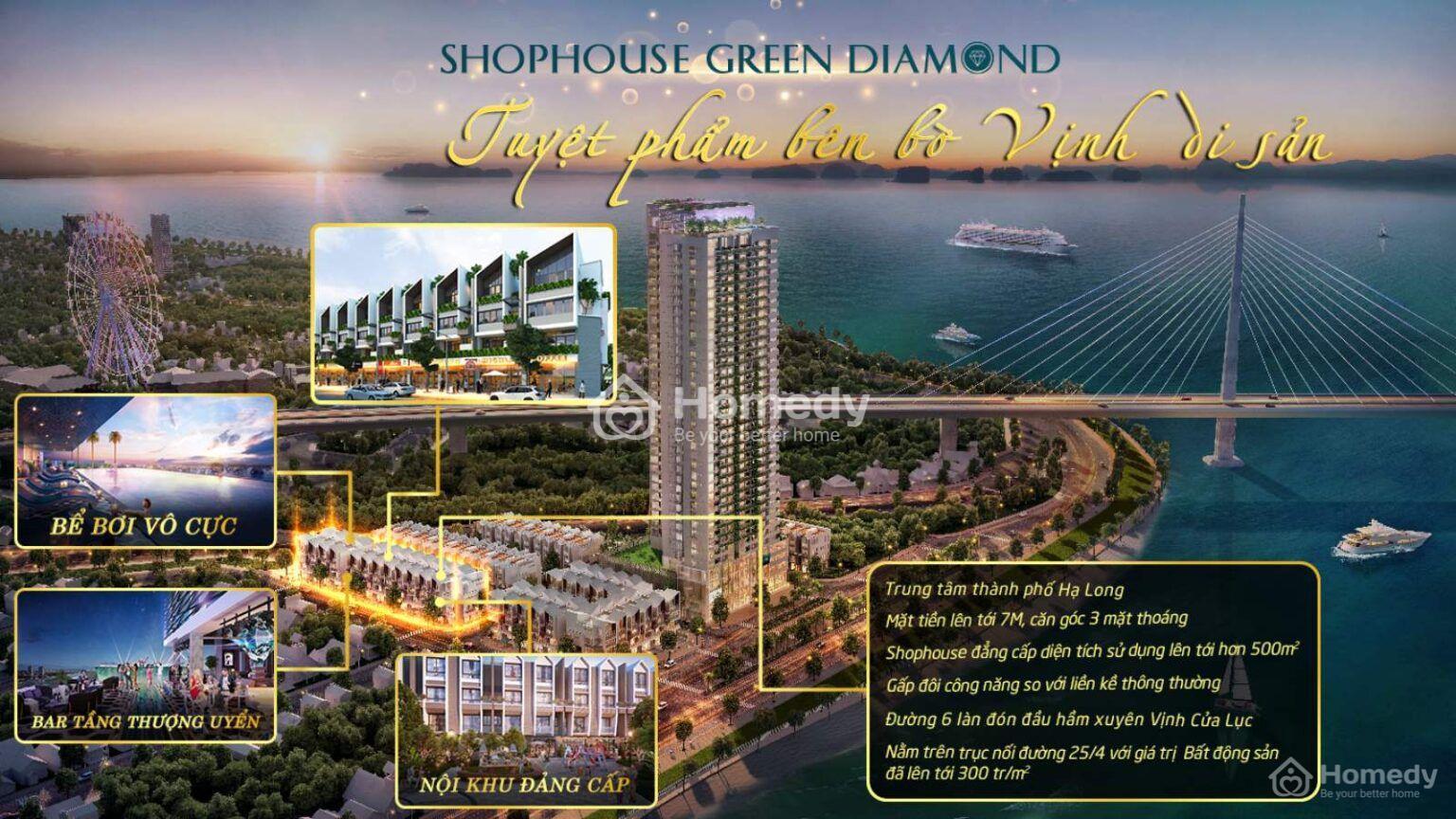 Nhà phố thương mại Green Diamond