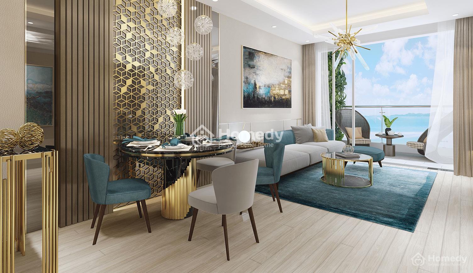 Căn hộ Quy Nhơn Melody có thiết kế căn hộ sang trọng