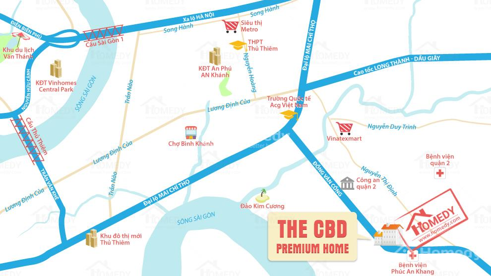 bản đồ vị trí CBD căn hộ