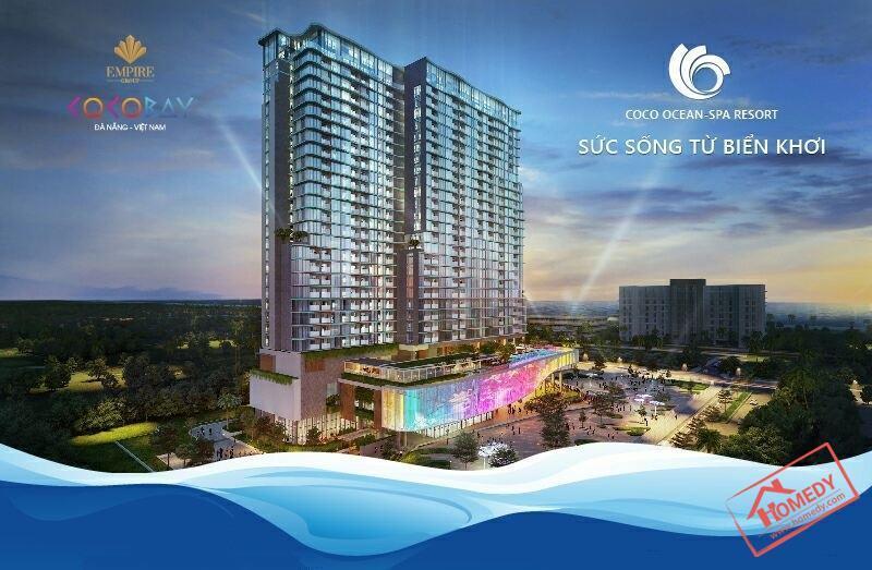 Phối cảnh tổng quan của dự án Condotel Ocean Spa Resort