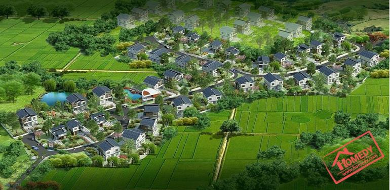 phoi canh tong the biet thu Green oasis villas